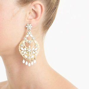 J. Crew Floral Chandelier Earrings